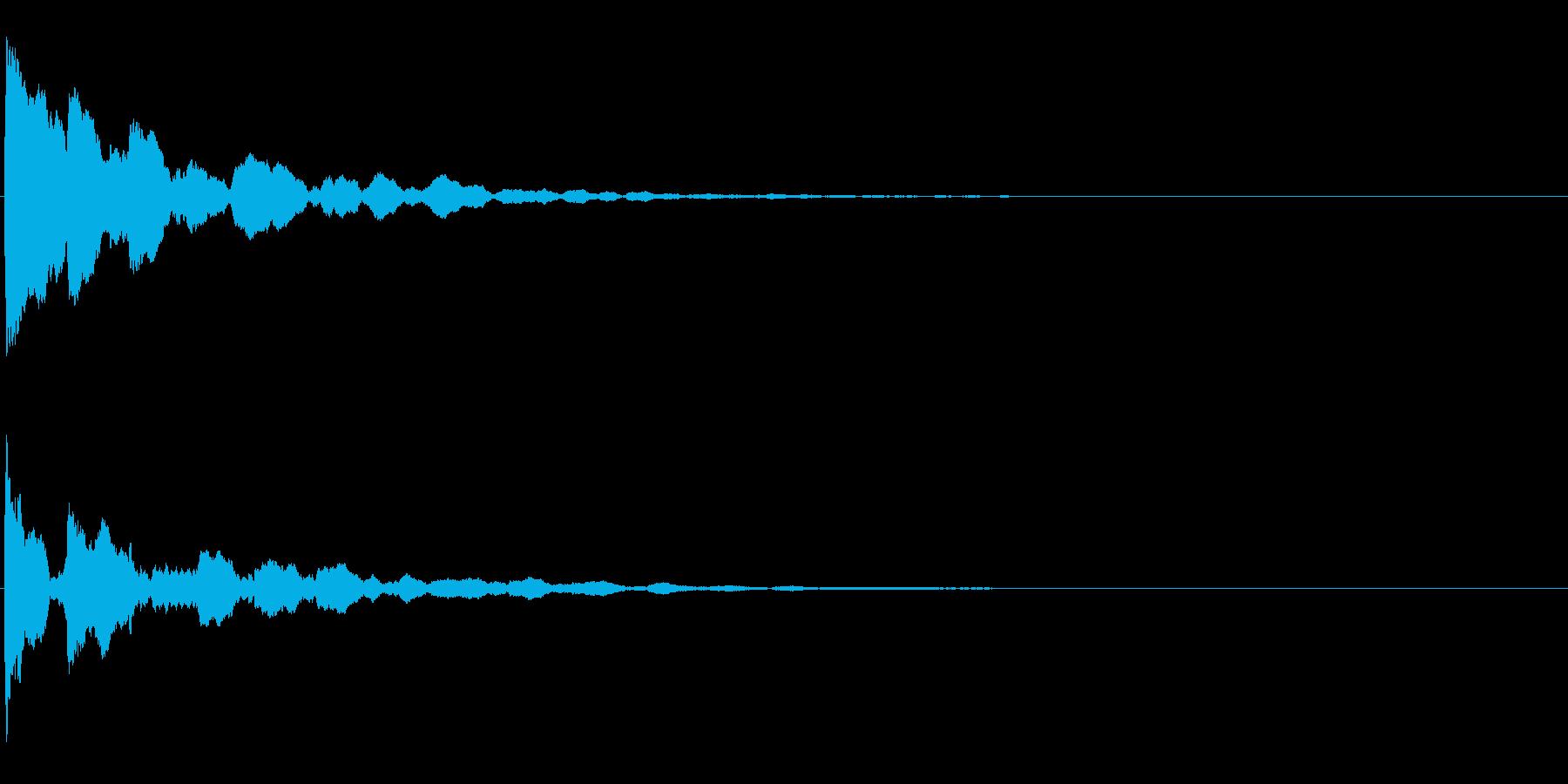 ピコーン テロップ・決定音・タッチ音の再生済みの波形