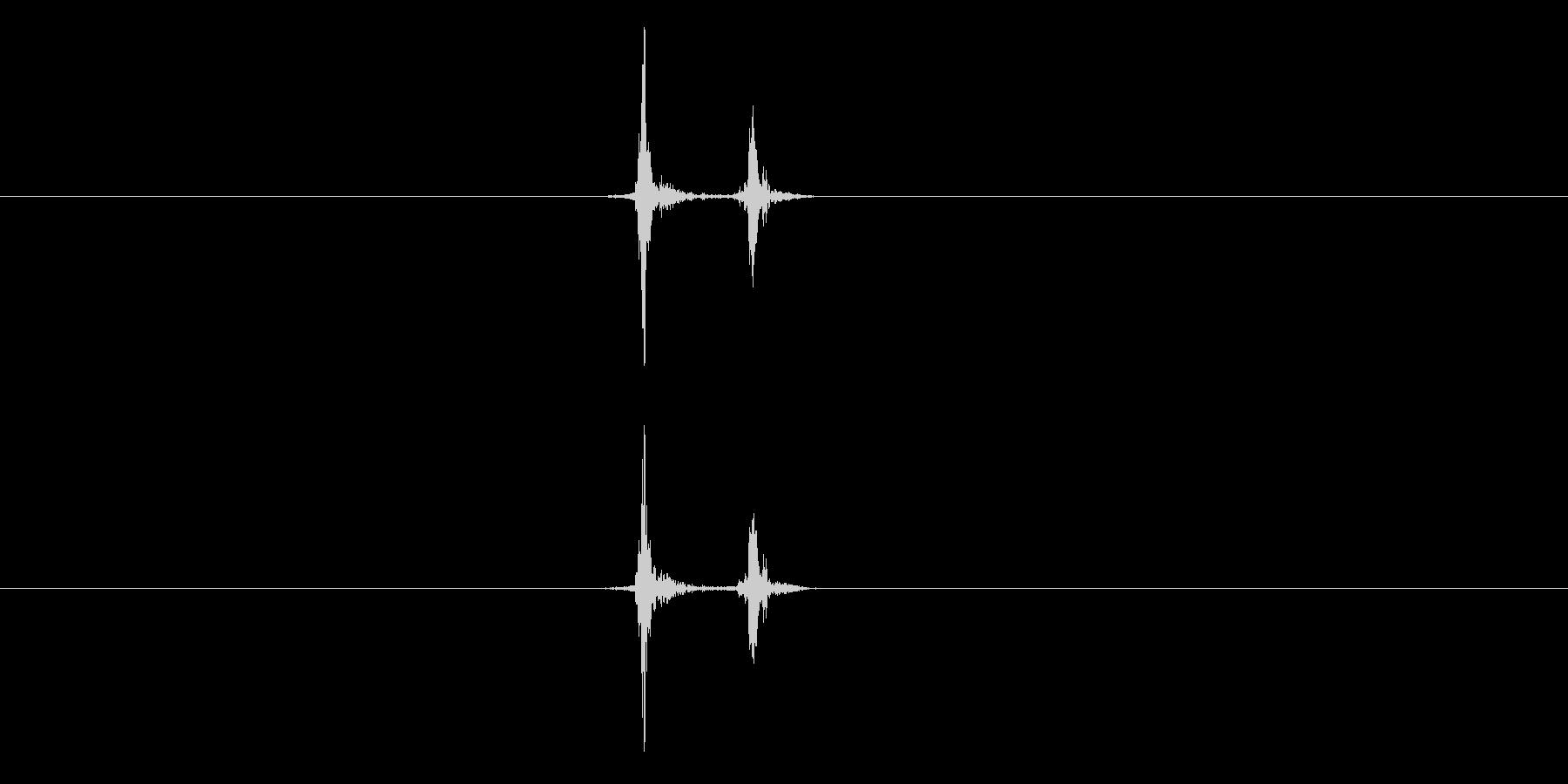 【録音】キーボードのEnterの音の未再生の波形