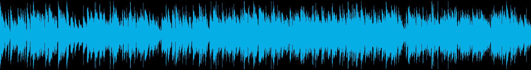 晴れやかで明るいジャズサックス※ループ版の再生済みの波形