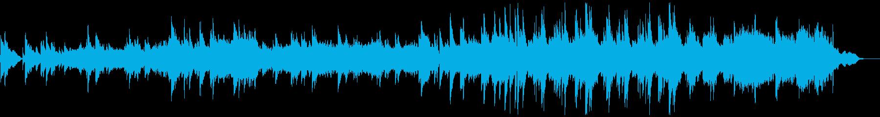 優しく情緒的なピアノストリングスの再生済みの波形