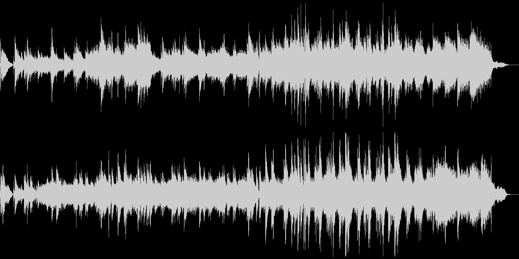優しく情緒的なピアノストリングスの未再生の波形