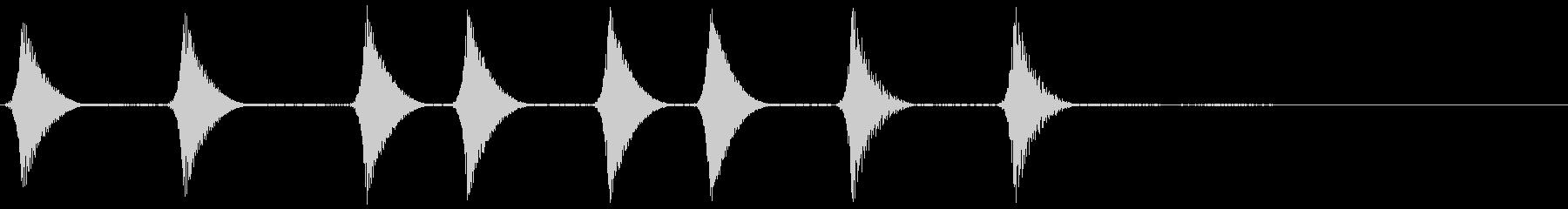 コロコロ。場面転換・めくる音(上昇)の未再生の波形