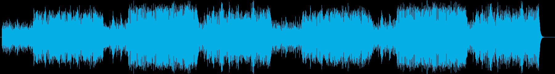 ほのぼのコミカルな雰囲気のオーケストラ曲の再生済みの波形