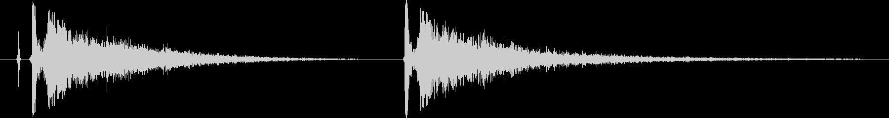 【カンカン】拍子木【和風な日本伝統芸能】の未再生の波形