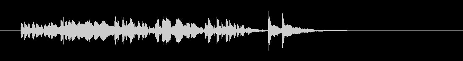 軽やか木琴打楽器音(アニメ、ジングル)の未再生の波形
