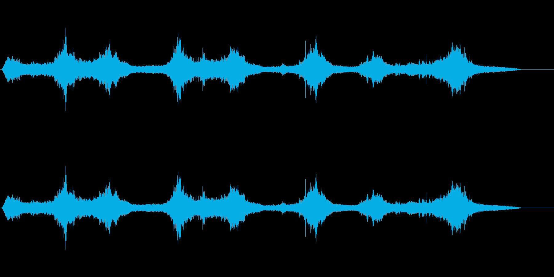 海の波石に打ち寄せる波1の再生済みの波形