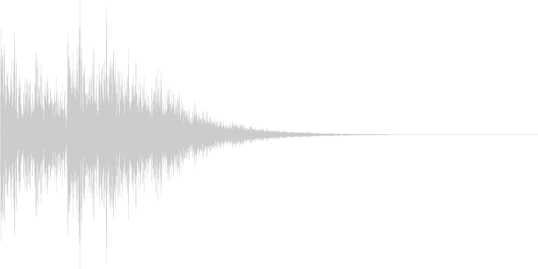 クイズやテーマ発表のジャジャンの未再生の波形