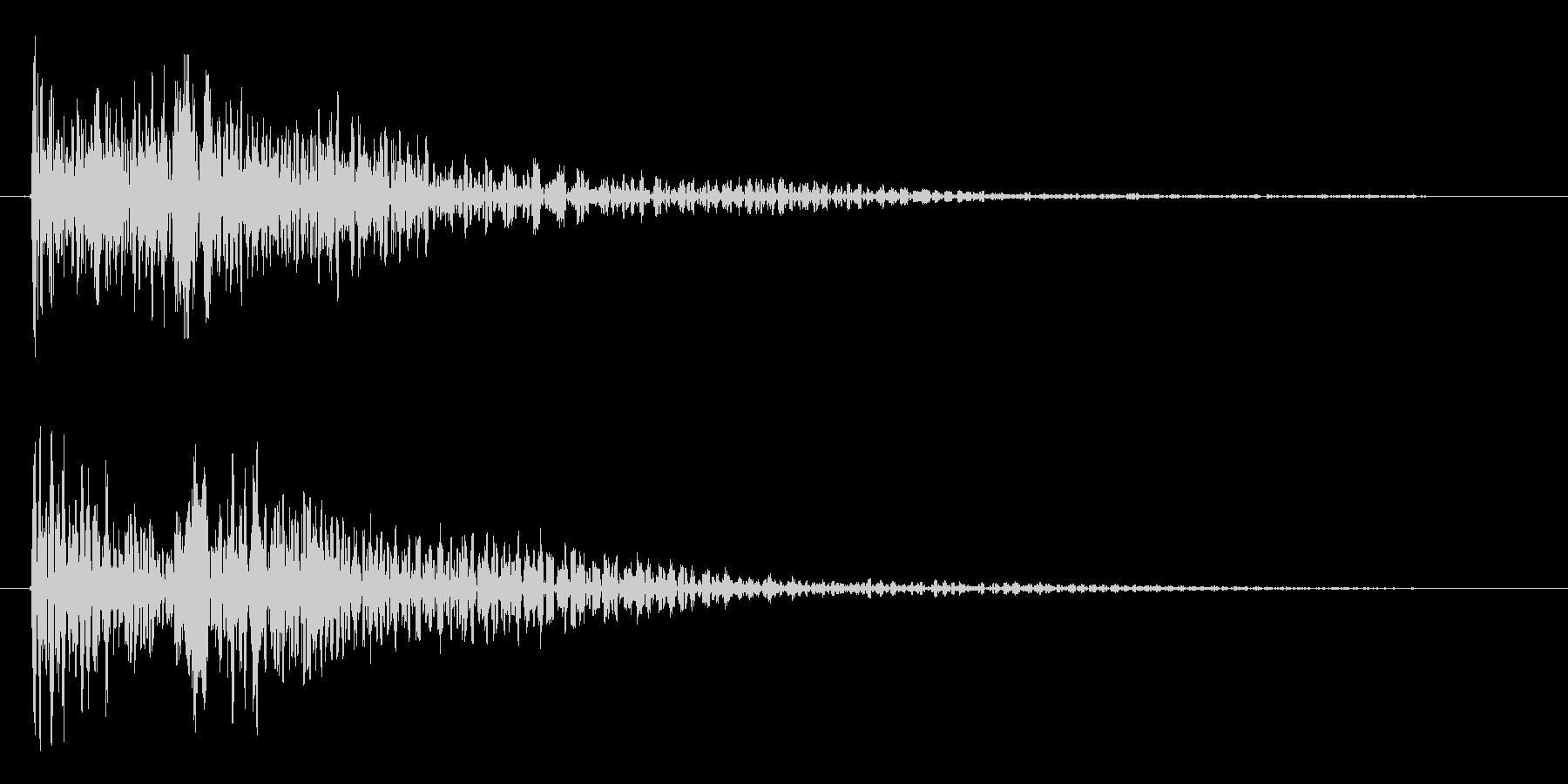 トゥウィン(未来風の選択、決定音)の未再生の波形