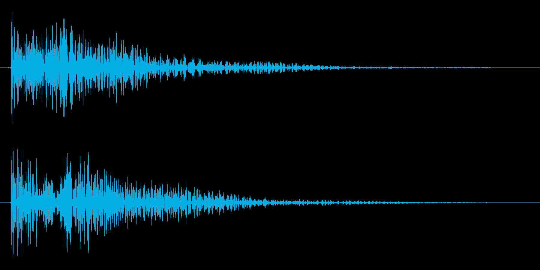 トゥウィン(未来風の選択、決定音)の再生済みの波形