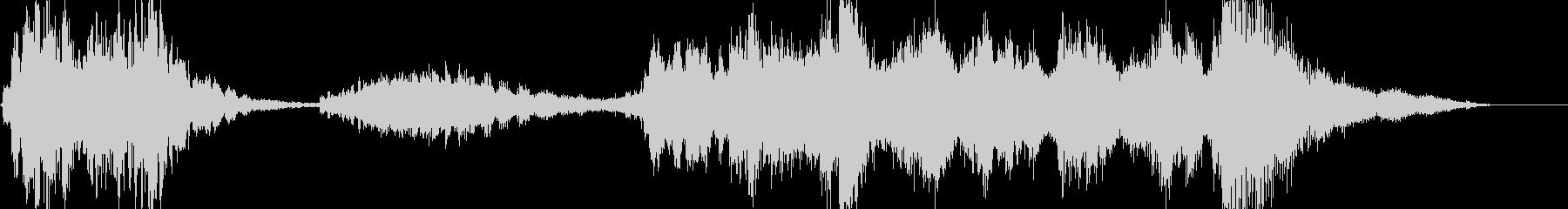 オシャレな4秒サウンドロゴの未再生の波形