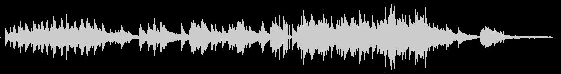 しっとり感動的なピアノとストリングスの未再生の波形