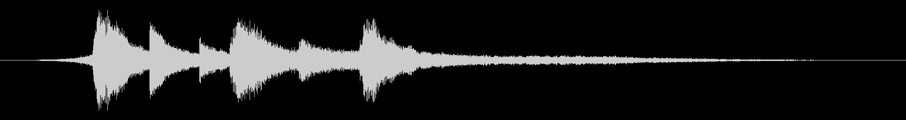 都会的で透明感のあるピアノジングル 2の未再生の波形