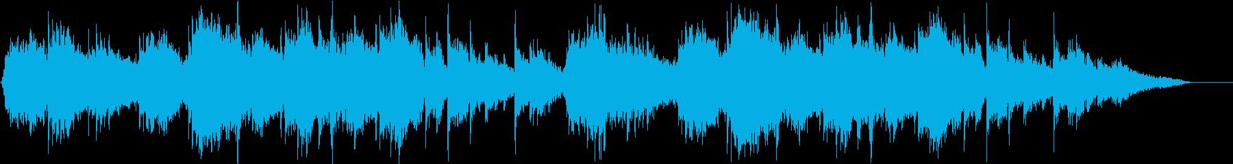 深海をイメージしたヒーリング音楽の再生済みの波形