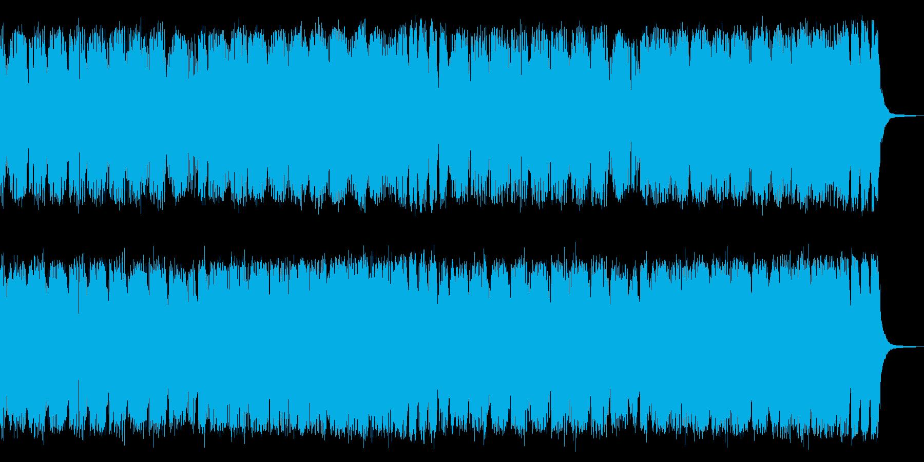 アクション洋画風、外車のワイルドCM風の再生済みの波形