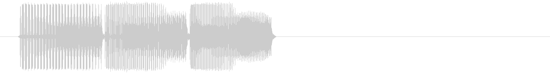 aの未再生の波形
