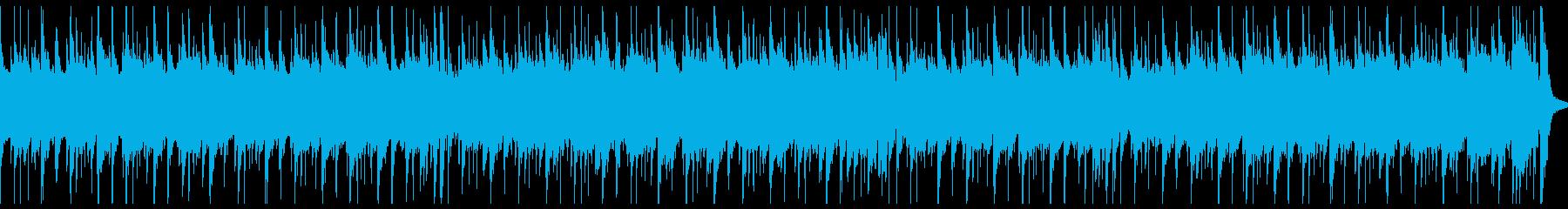 シンプルな曲調のギター&ドラムのBGMの再生済みの波形
