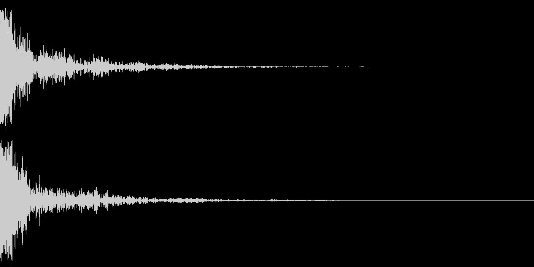 ガーッ(インパクト)の未再生の波形