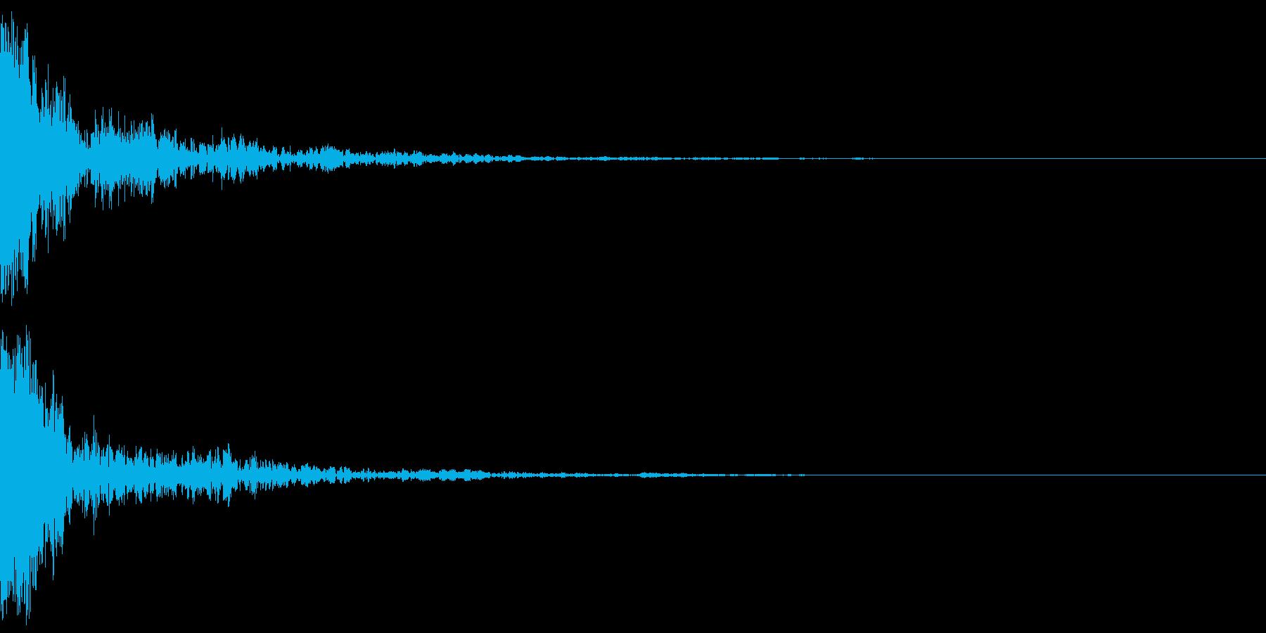 ガーッ(インパクト)の再生済みの波形