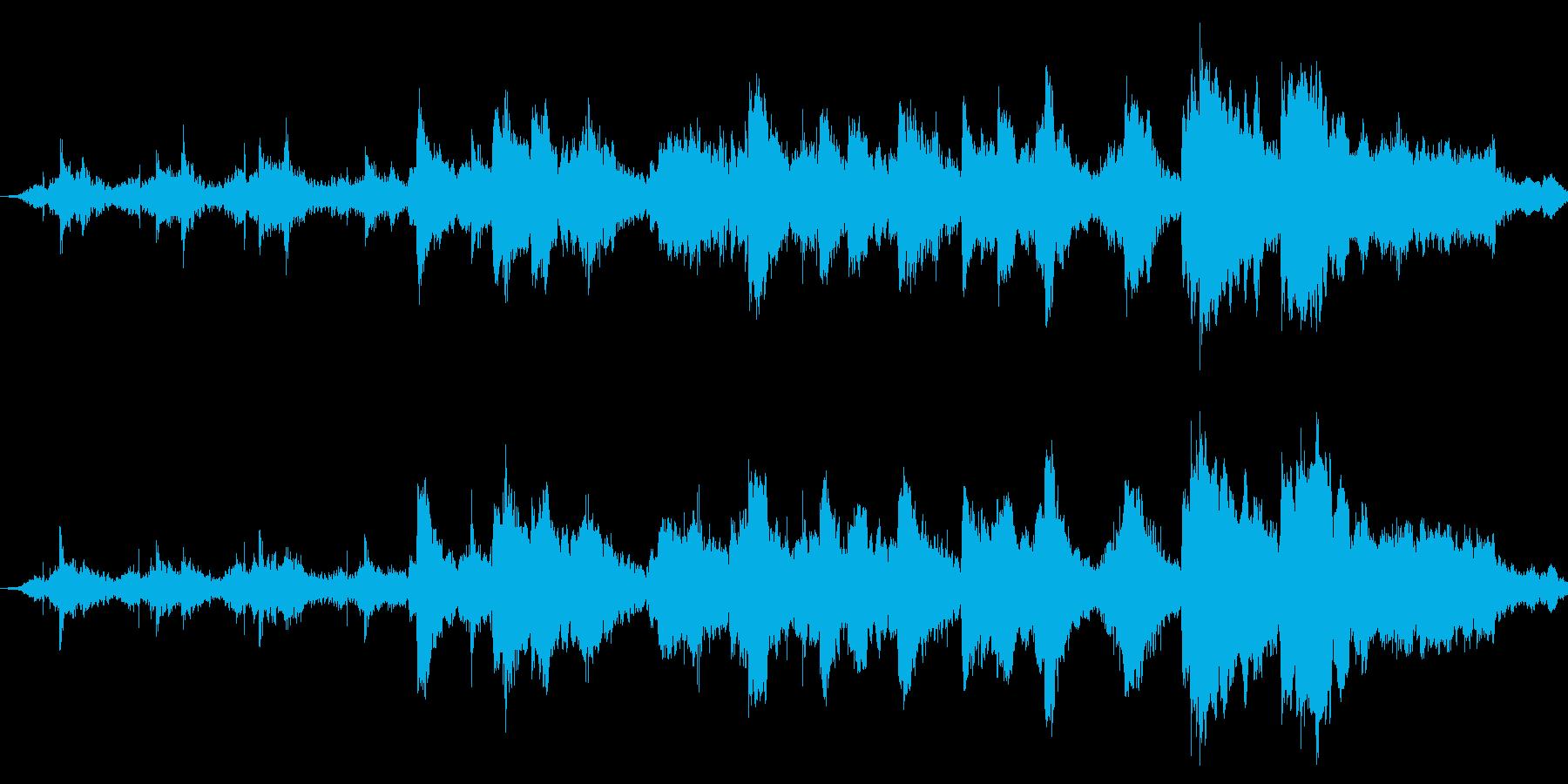 ミステリー等に合う不協和音な音です。の再生済みの波形