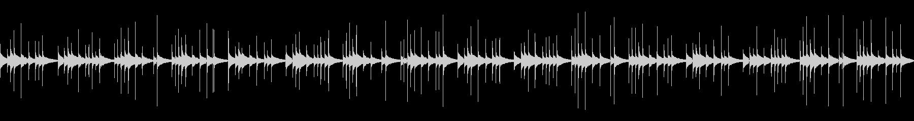 ほのぼのした民族的カリンバの未再生の波形