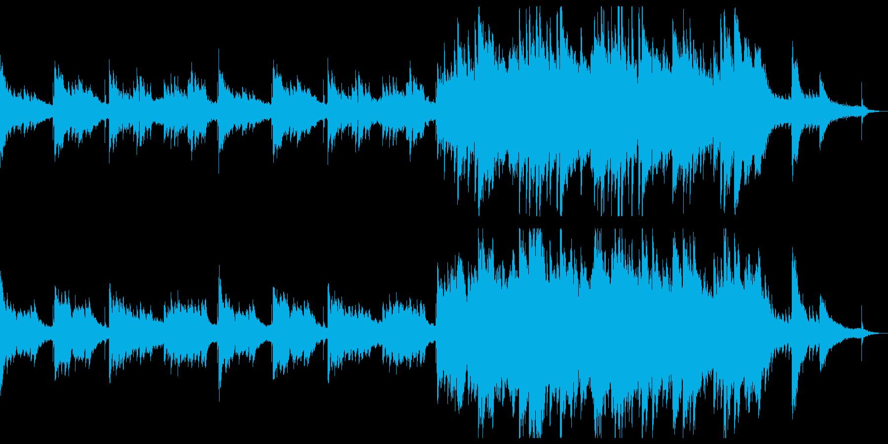 落ち着いたドキュメンタリー風BGMの再生済みの波形