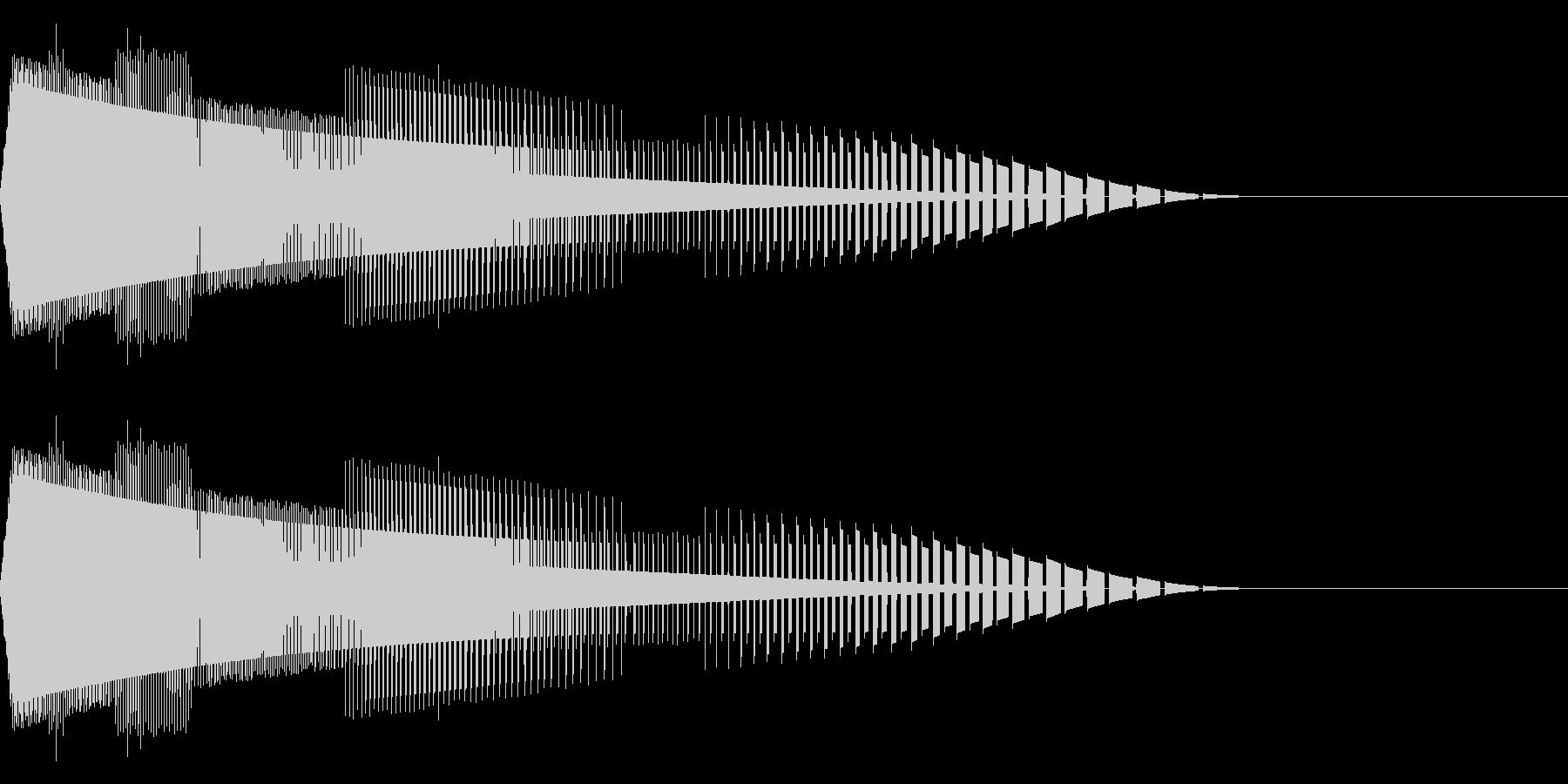 ヒューン(ファミコン/弾/落下/ビームの未再生の波形