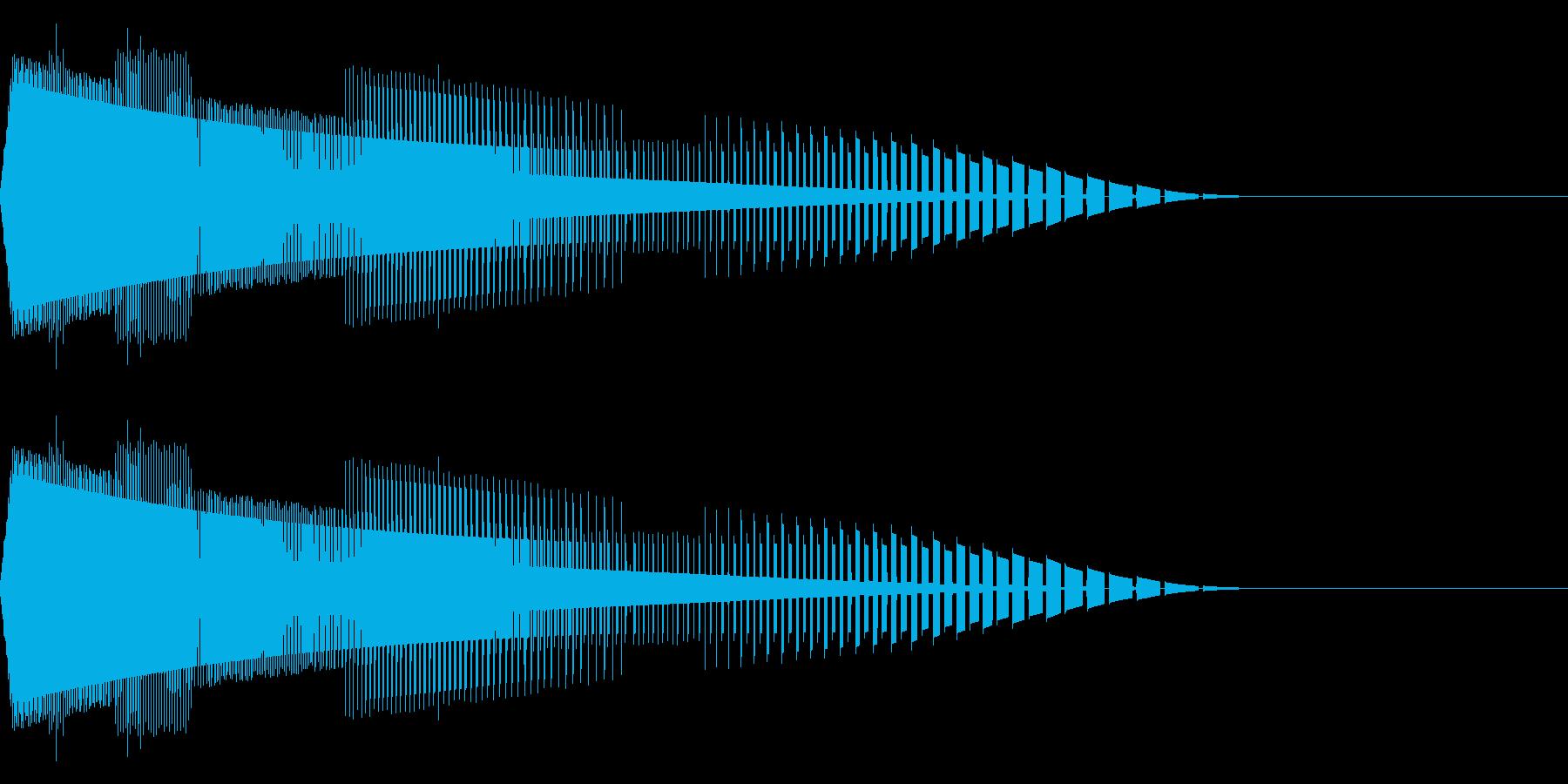 ヒューン(ファミコン/弾/落下/ビームの再生済みの波形
