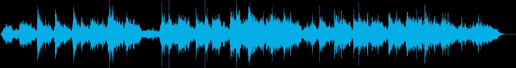浮遊感ある環境音楽のようなシンセ曲の再生済みの波形