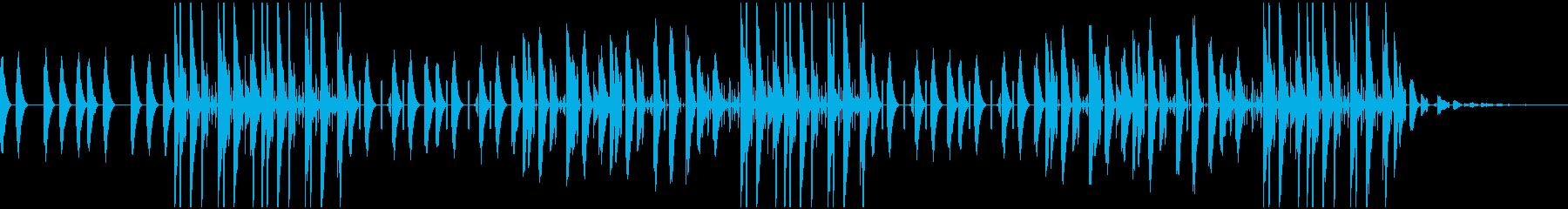 vlogおしゃれでチルなかわいい曲の再生済みの波形