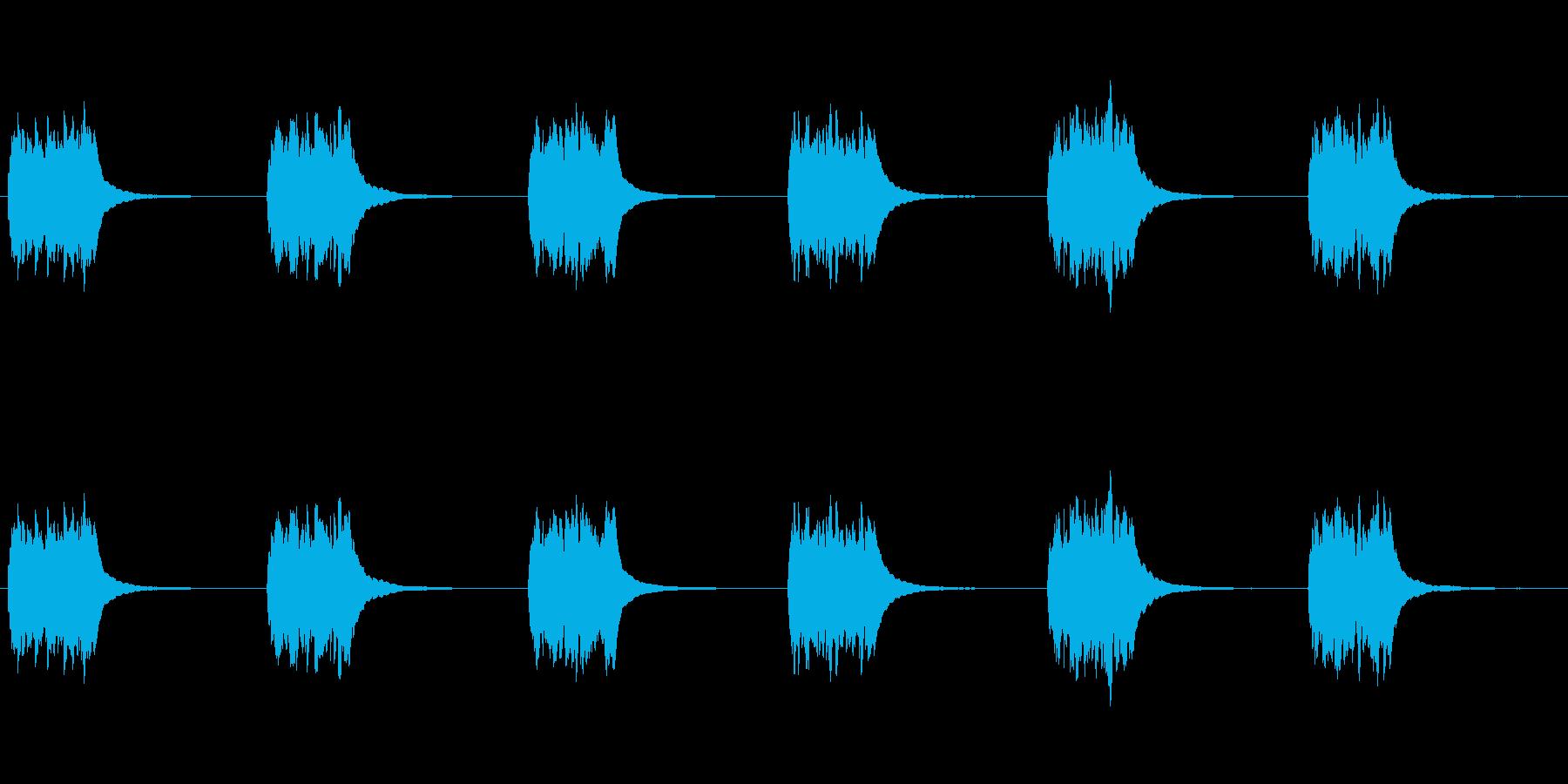 古いロータリーダイヤル電話:ベルリンガーの再生済みの波形