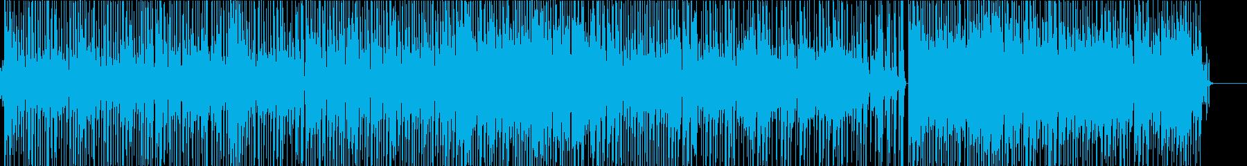 ファンクビートにパワフルなスラップベースの再生済みの波形