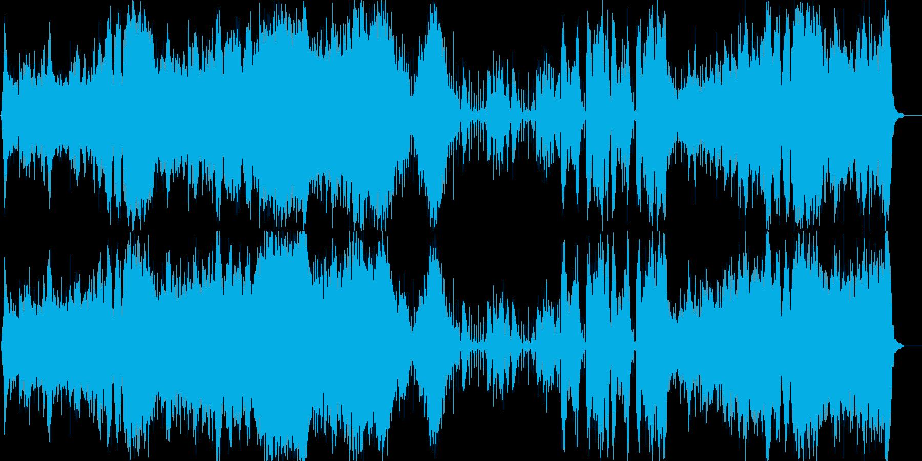 恐怖・敵から逃れるフィルムミュージックの再生済みの波形