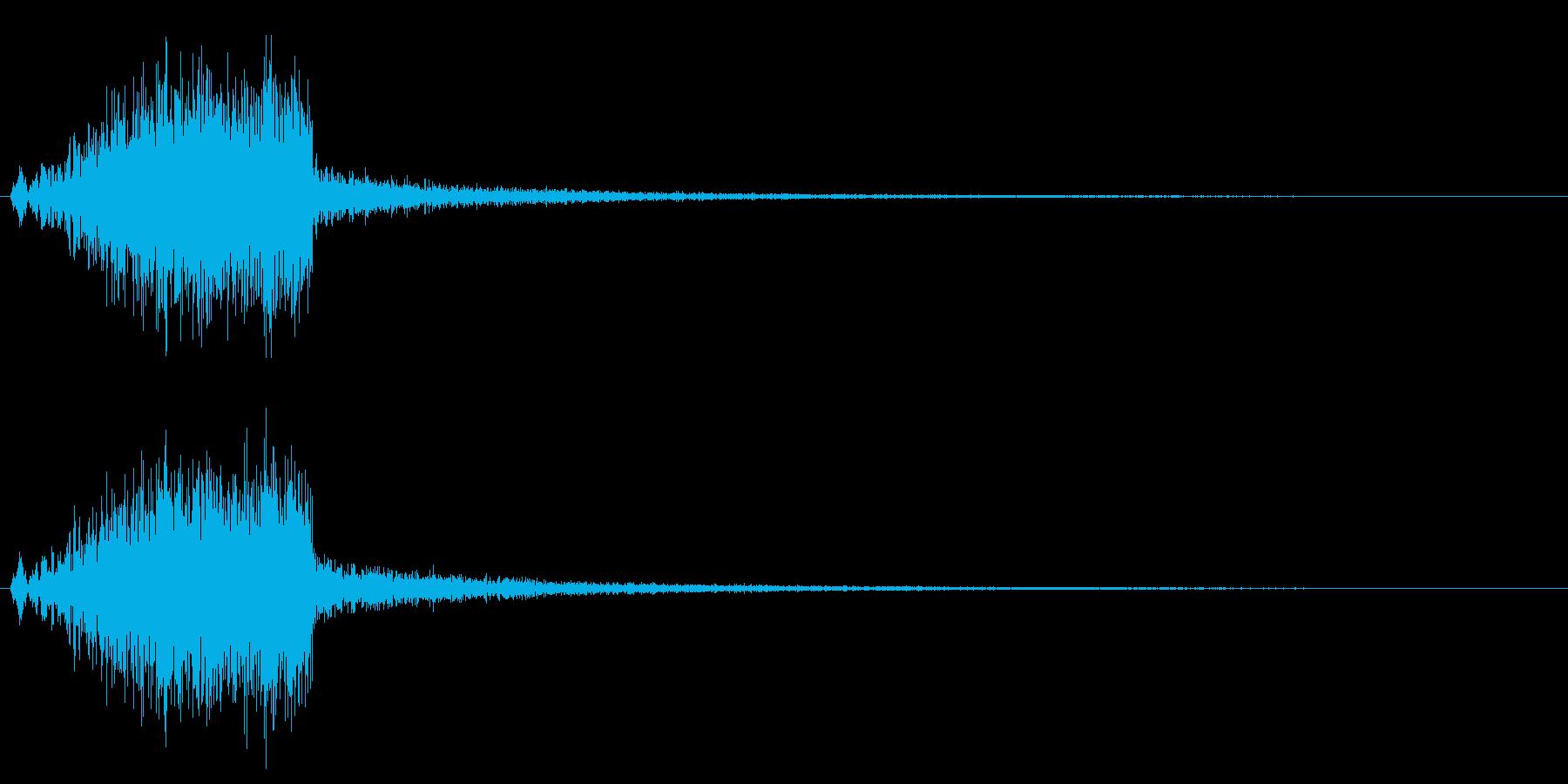 ウィシィン、という風を切るような音の再生済みの波形