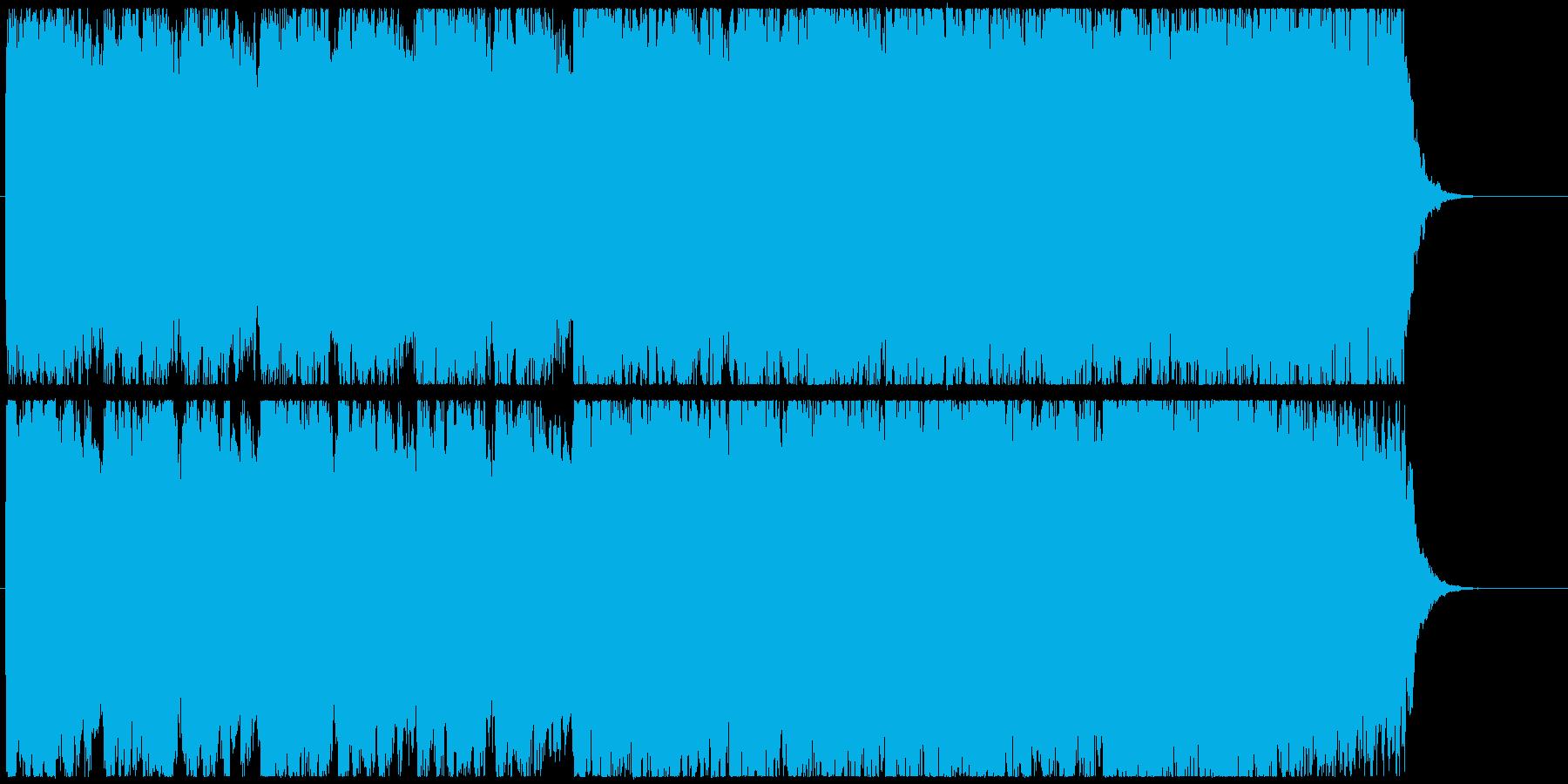 特撮、SF映画、アニメの次回予告BGMの再生済みの波形