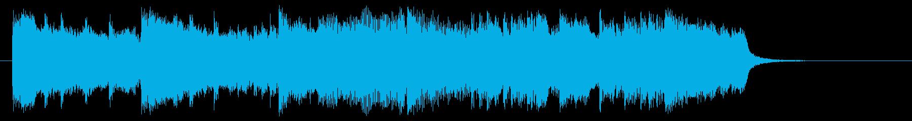 アップテンポで明るいポップスのジングルの再生済みの波形