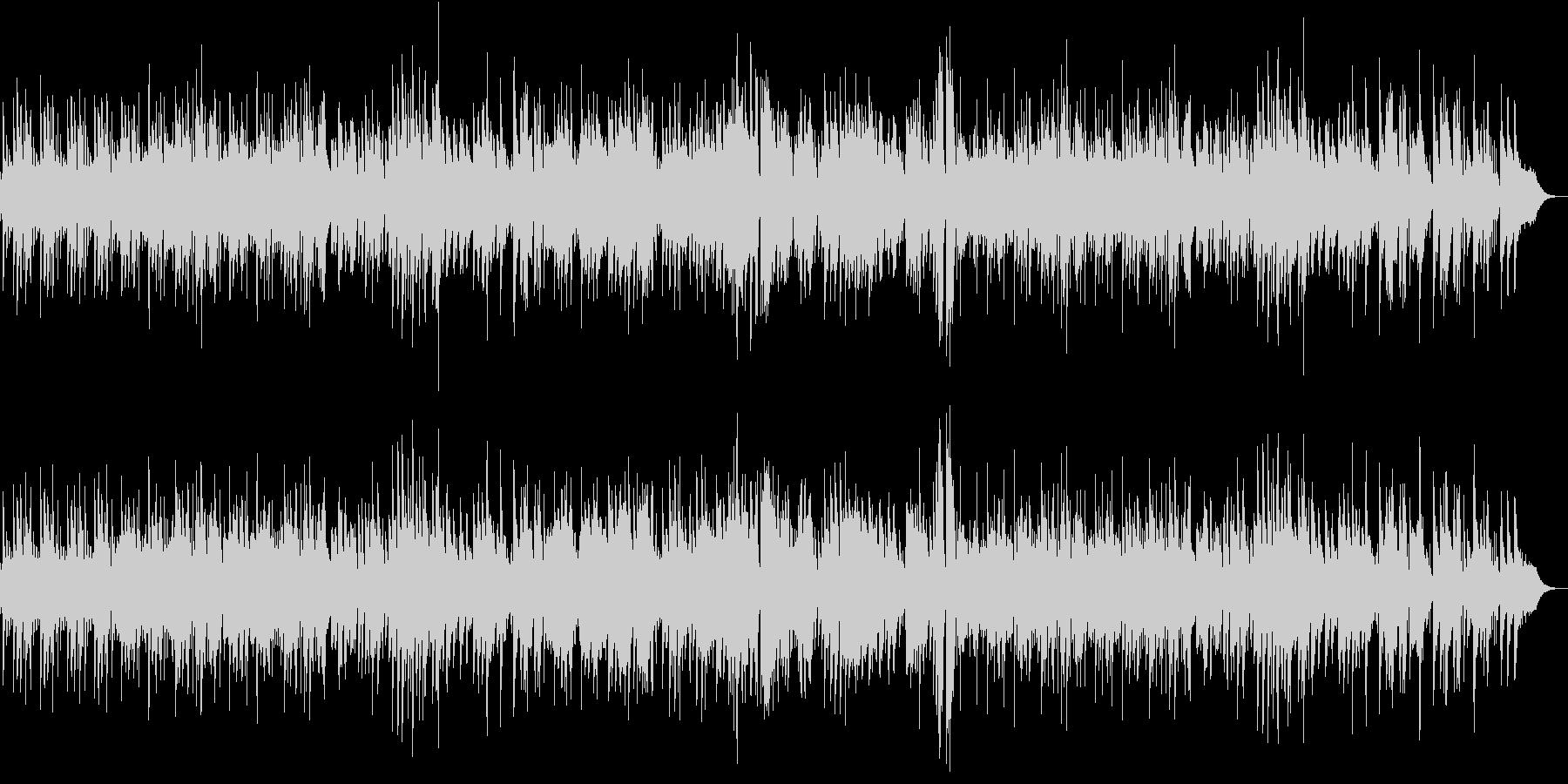 ハードなジャズピアノトリオの未再生の波形