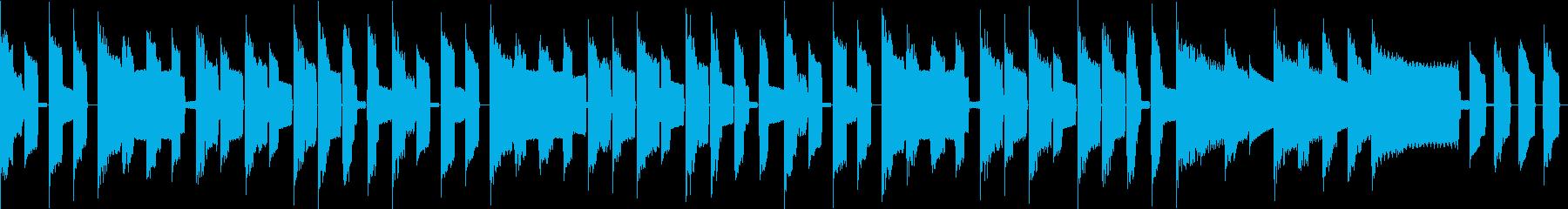 昔懐かしいゲームのBGMの再生済みの波形