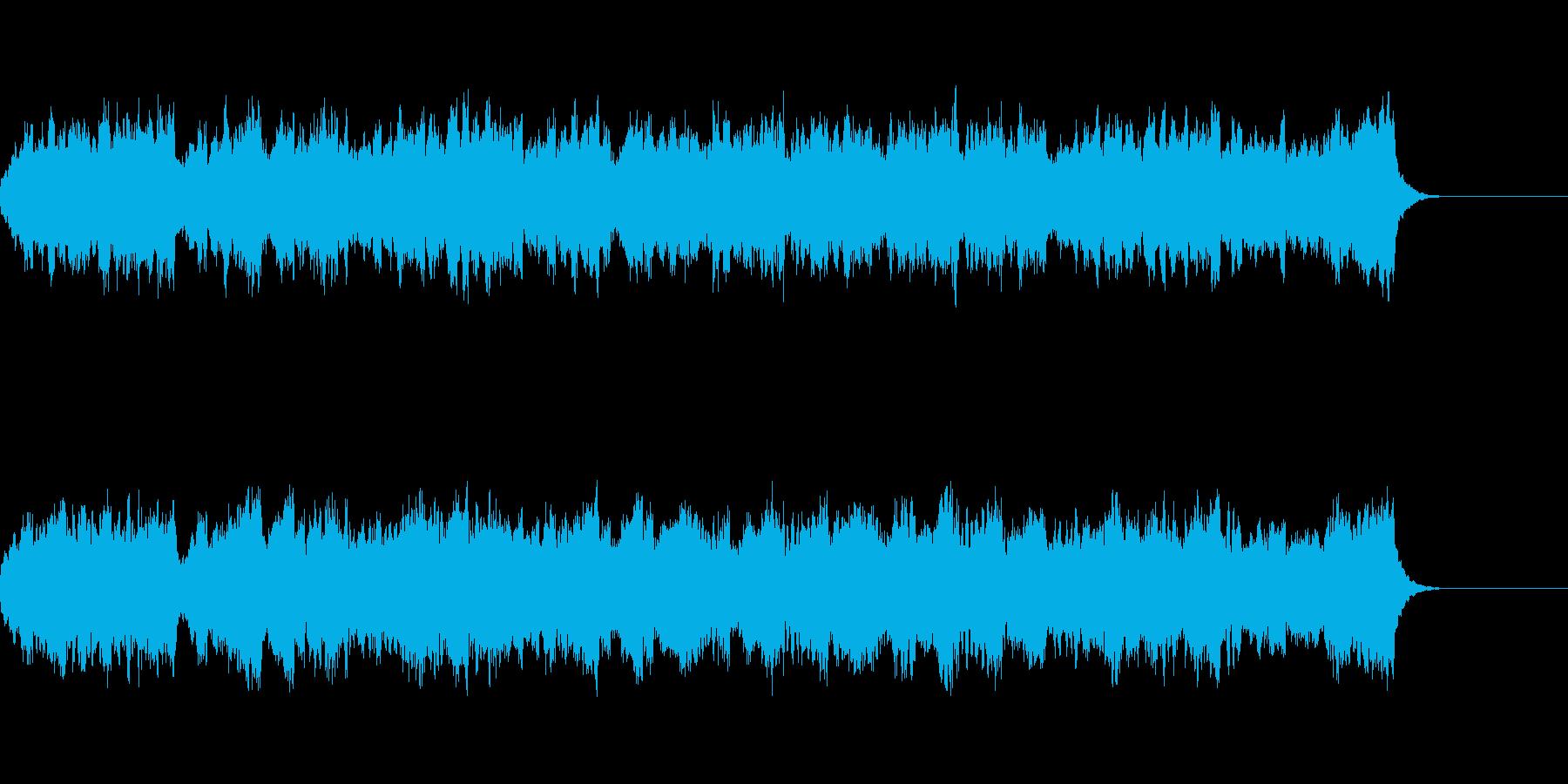 バイオリンとビオラの華やかな弦楽二重奏曲の再生済みの波形