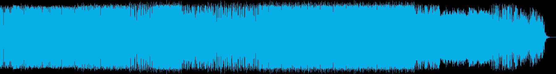 オルガンメロディ入りの深海イメージ曲の再生済みの波形