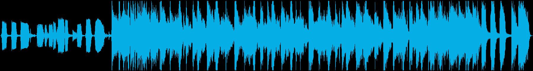 スモーキーな四つ打ちファンクの再生済みの波形