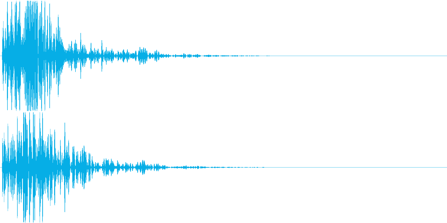 空間系を意識した短い効果音です。の再生済みの波形
