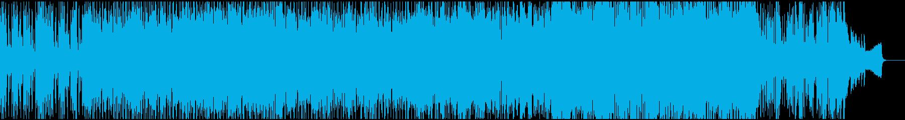 お洒落な雰囲気のアコースティック曲の再生済みの波形