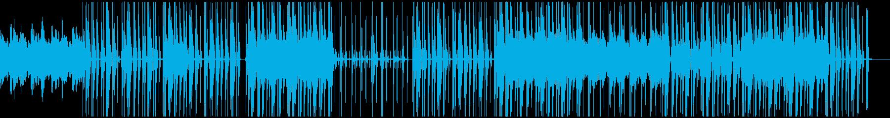 荘厳な雰囲気のBGMの再生済みの波形