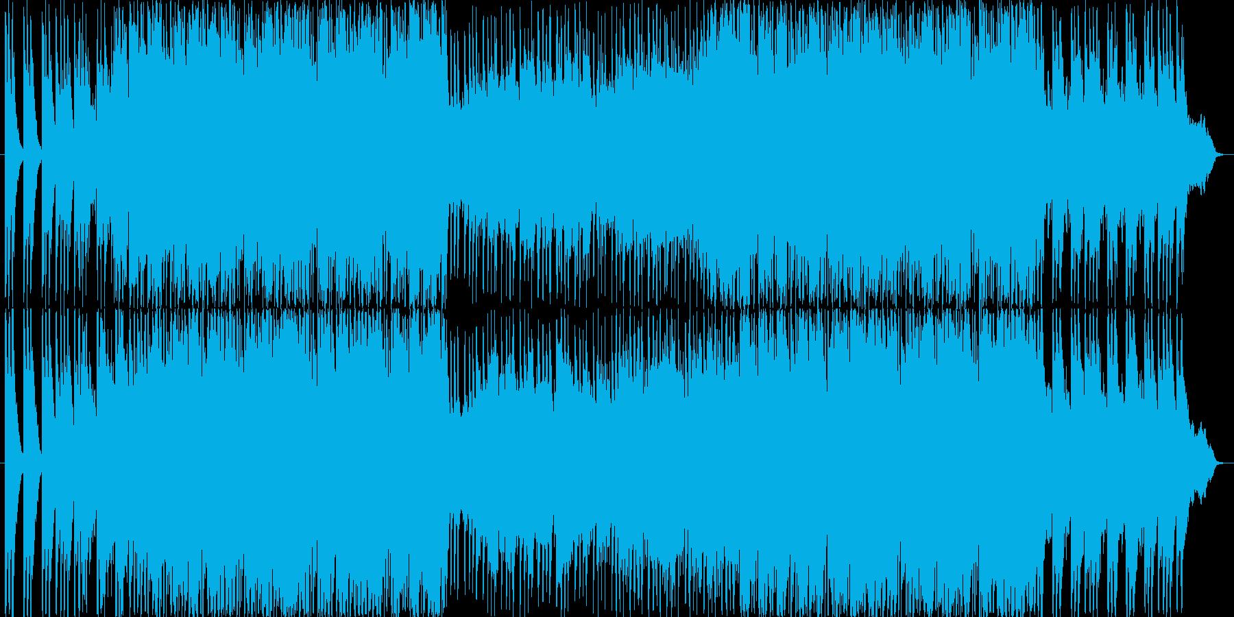 テクノに和を取り入れた近未来的な楽曲の再生済みの波形