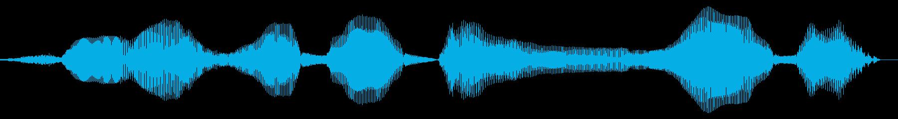 スマホでダウンロード(女声)の再生済みの波形