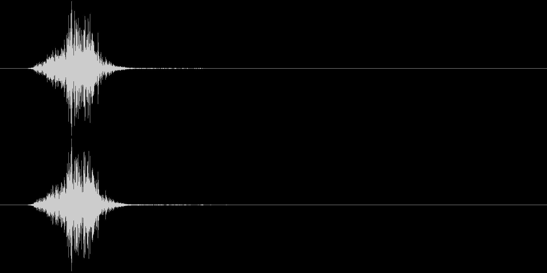 ザクッ(掘る、地面、シャベル)の未再生の波形