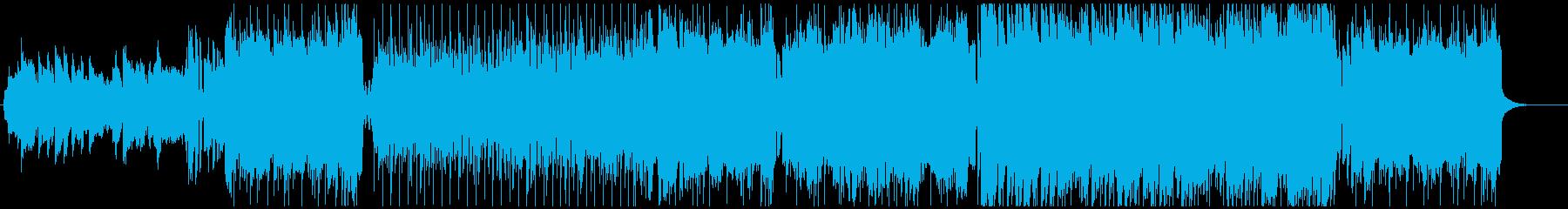 和風バトル系アニメ主題歌 女性歌ロック の再生済みの波形