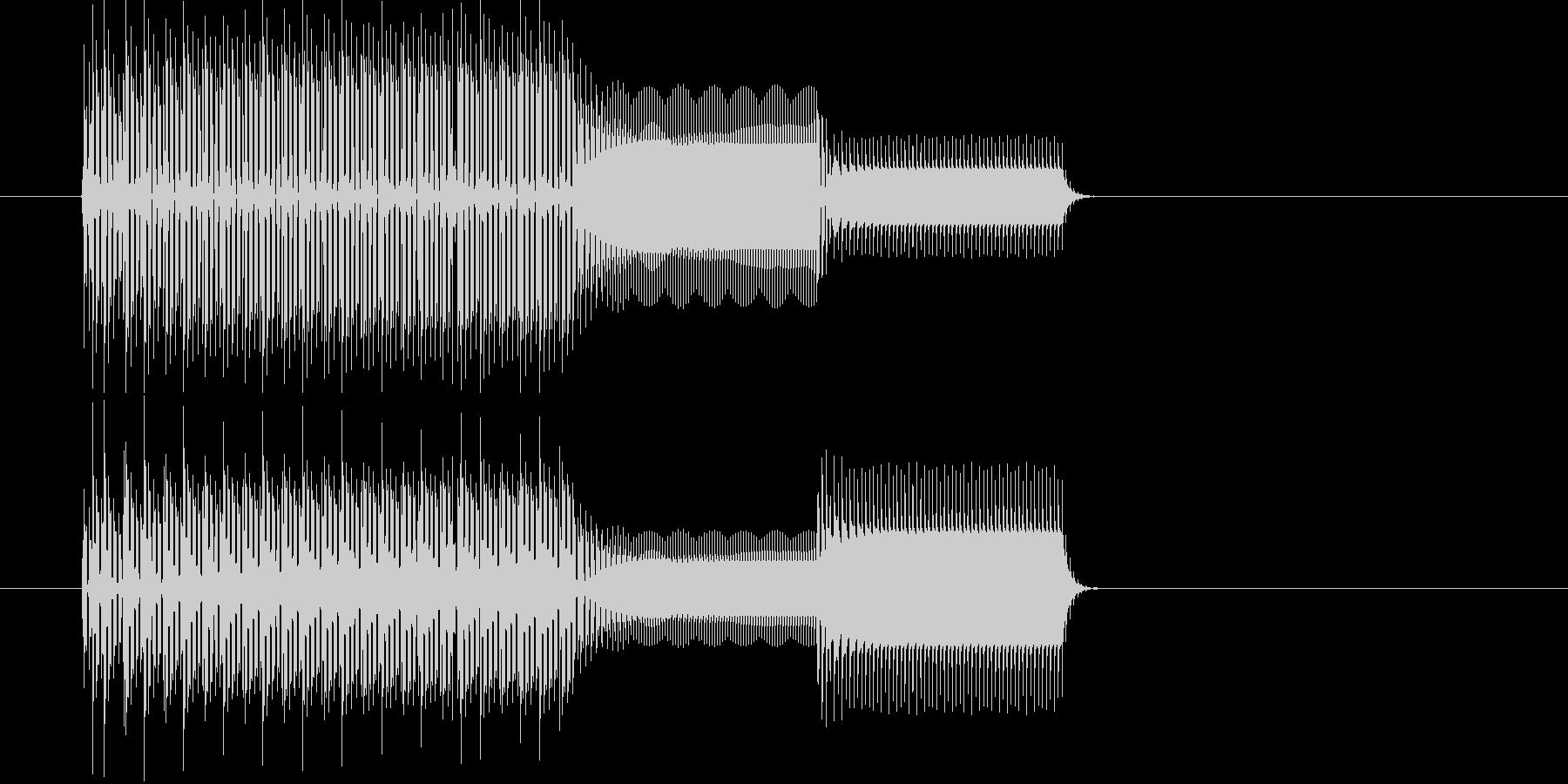 ピコリスタート音クリックファミコン音の未再生の波形