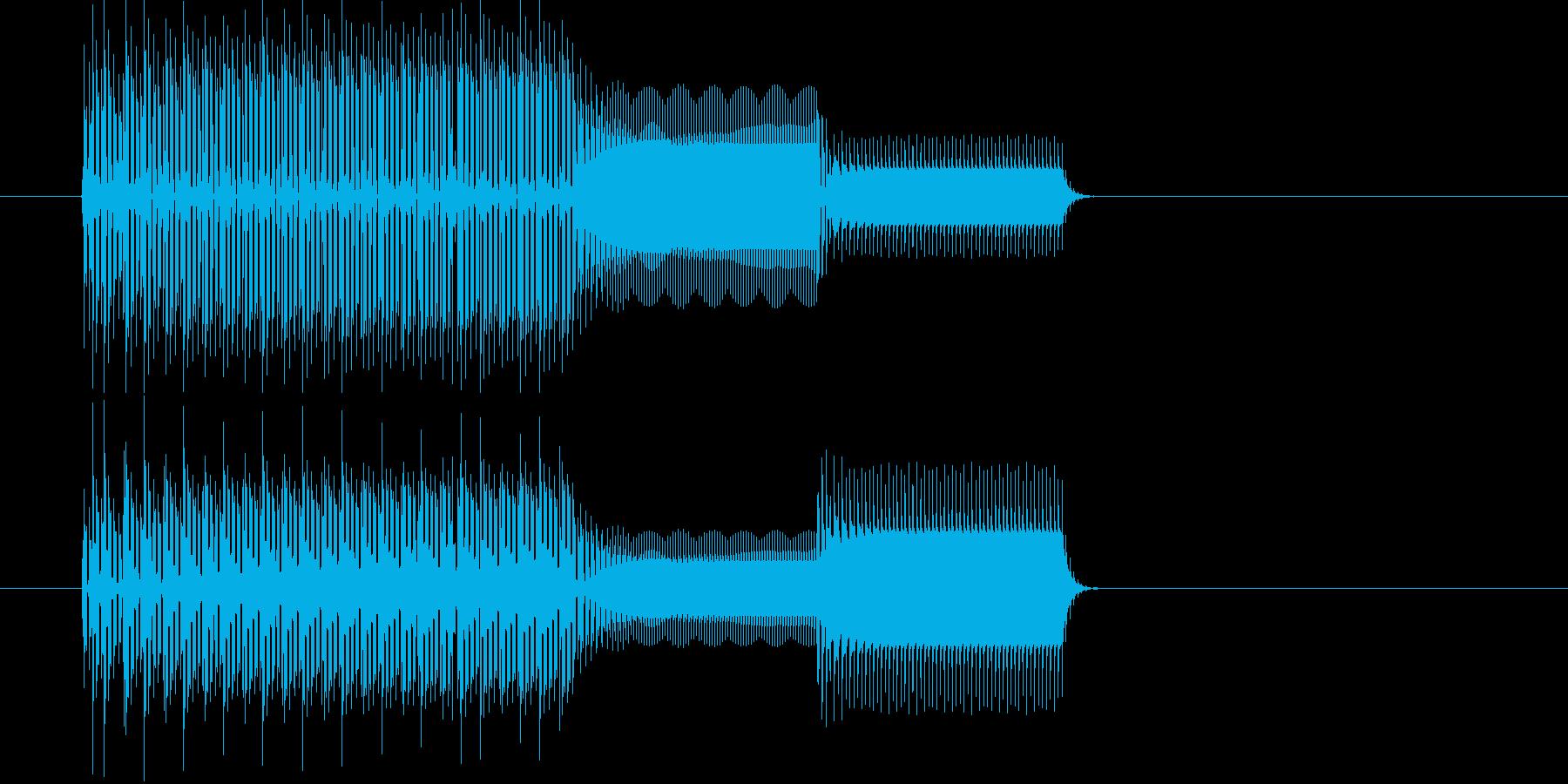 ピコリスタート音クリックファミコン音の再生済みの波形