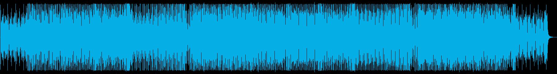 ポップなテクノサウンドの再生済みの波形